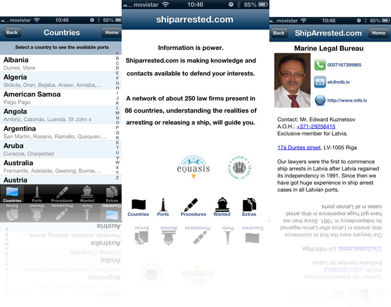 Shiparrested Iphone APP